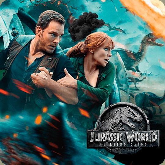 Poster Jurassic World botón para ver video