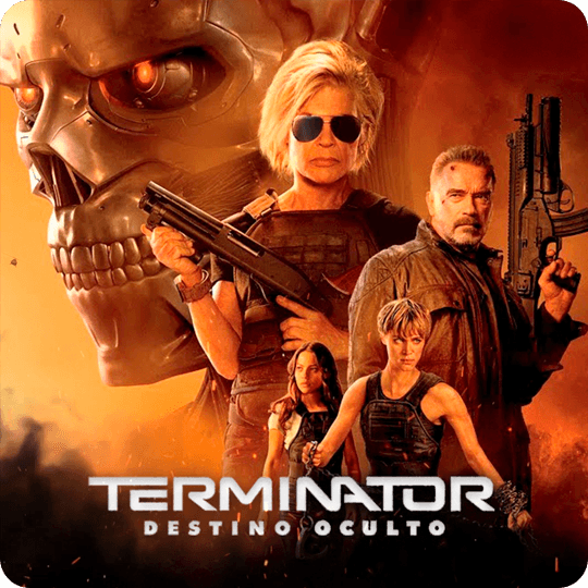Poster Terminator Destino Oculto botón para ver video